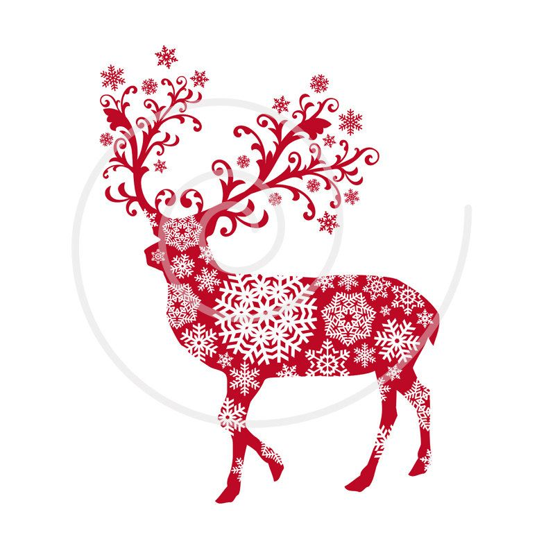christmas deer  learntorideco