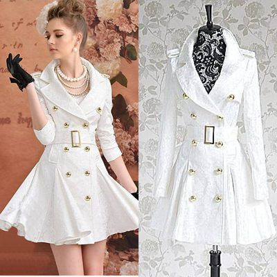 Womens Long White Winter Coats - Black Coat