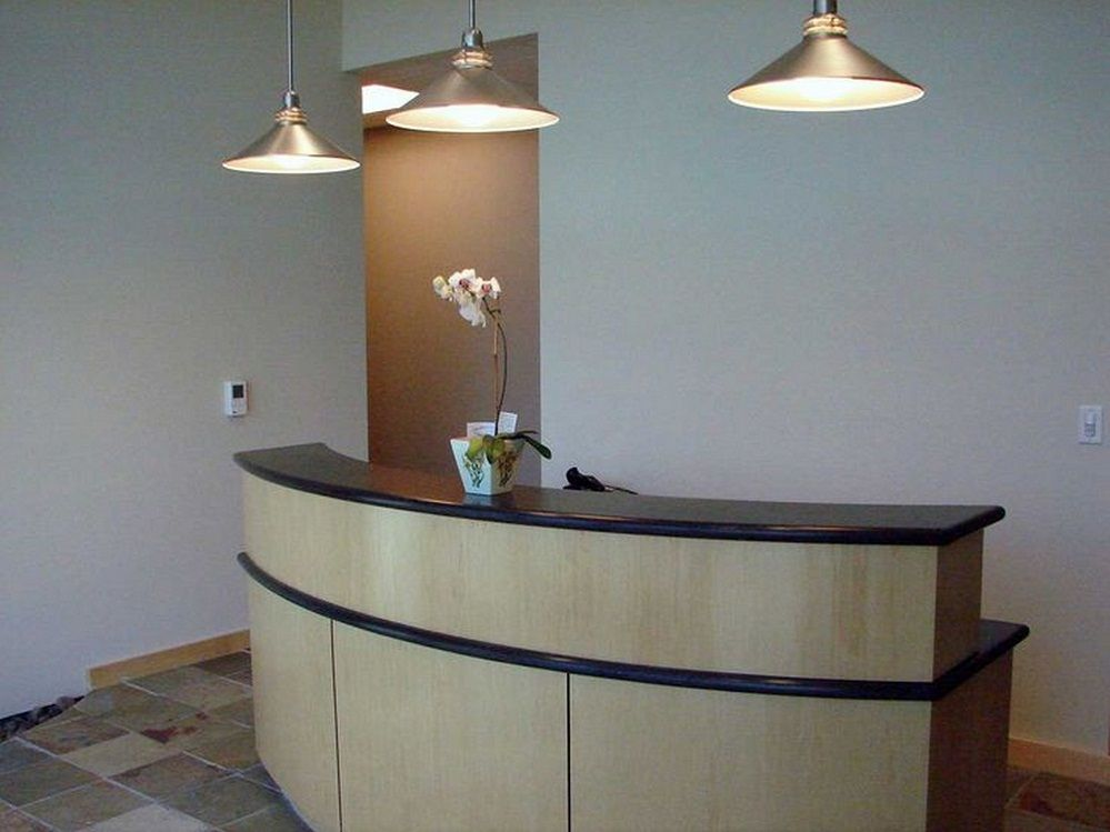 Image of Curved Reception Desk Furniture Reception Counters