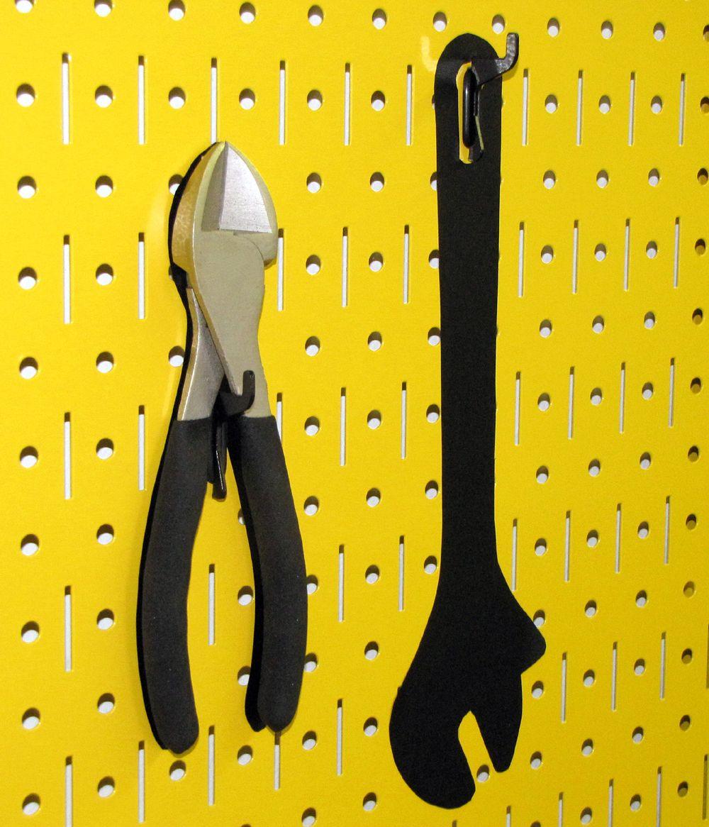 ab129de2f46b702adeefe1d7ecfc10b7 wall control yellow metal peg board tool board with black shadow  at gsmportal.co