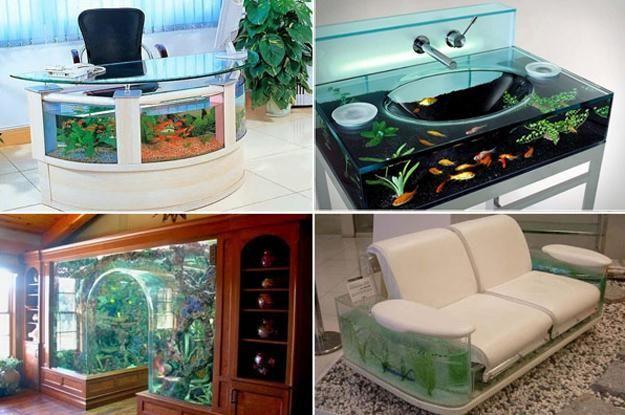Unusual Built In Aquariums Adding Beautiful Green Ideas To Home Decorating Aquariums Amazing