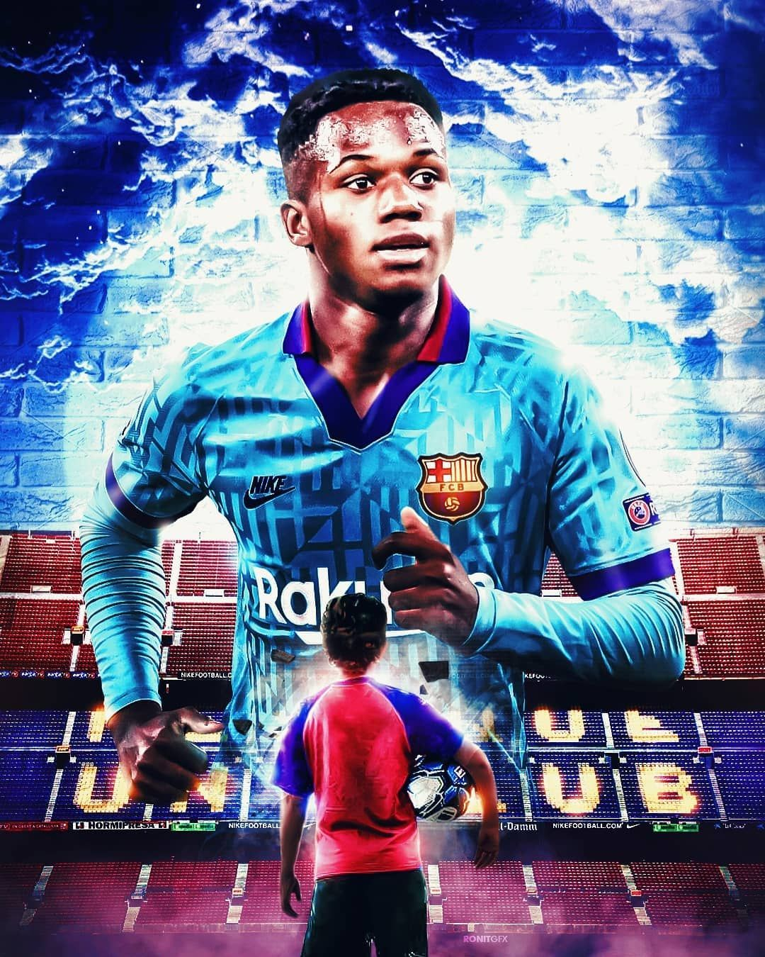 261 Mentions J Aime 0 Commentaires Football Wallpapers Ronit Gfx Sur Instagram Ansufati Young Kid Go In 2020 Football Wallpaper Messi Vs Messi Vs Ronaldo