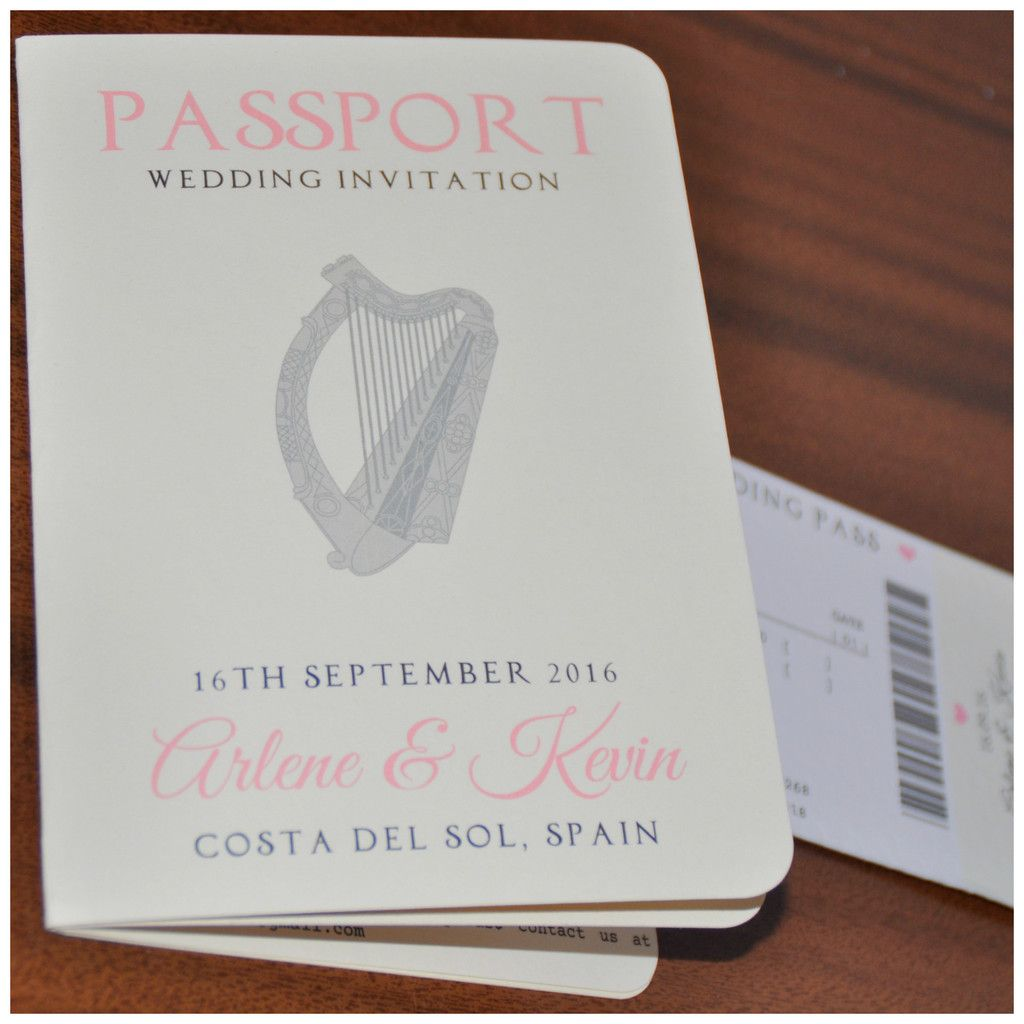 Passport Style Wedding Invitations | Dippydoodah Graphics | Pinterest