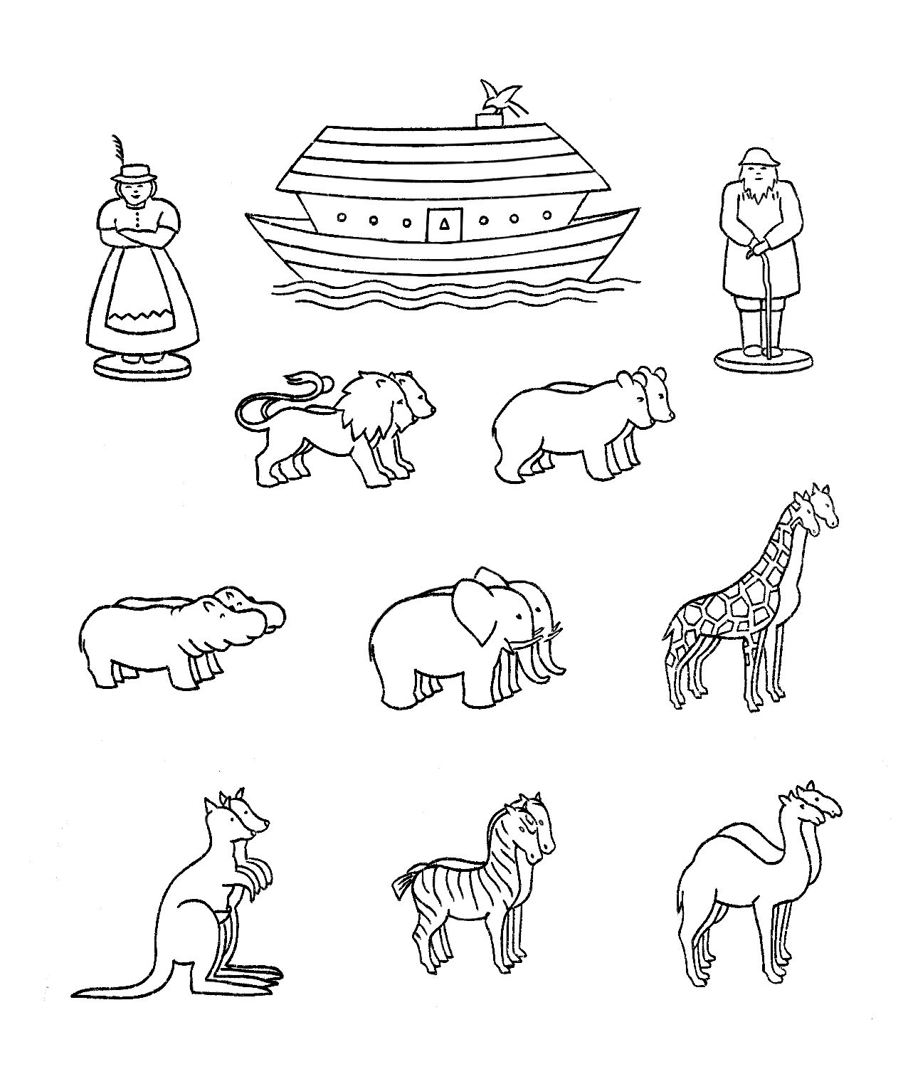 Templates Or Coloring Pages For Preschool Noah S Ark My Friend Mickie Sent Me A Copy Of This Adorable Noah S A Noahs Ark Craft Noahs Ark Animals Ark Craft