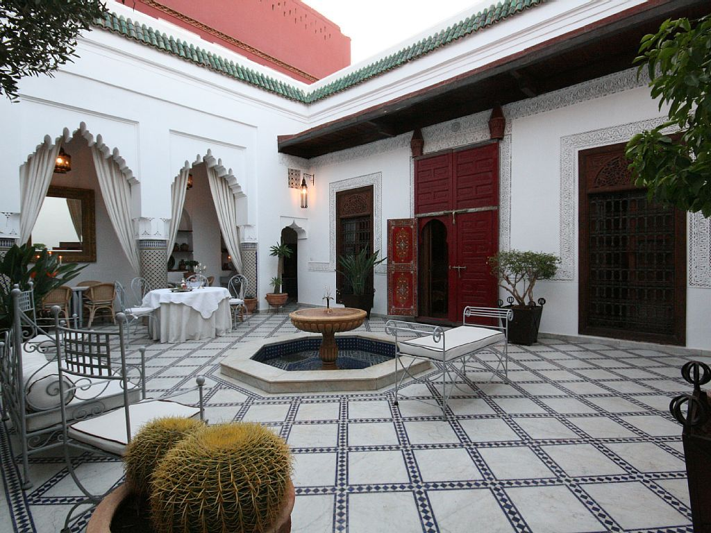 Riad Medina Patio Fontaine Moroccan Style Pinterest Moroccan