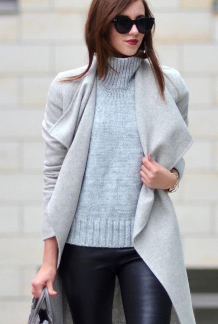 Abrigo gris azul