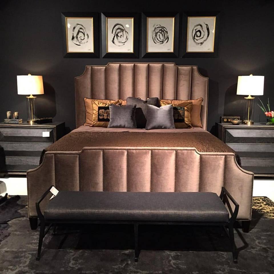 This Fabulous Artdeco Inspired Velvet Bed By Bernhardtfurniture Just Arrived At Our Store It S So Bed Furniture Design Bedroom Bed Design Bedroom Interior Art sample bedroom furniture