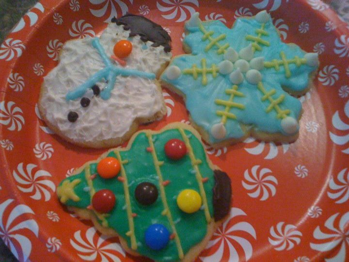Fun Christmas sugar cookies!  The key is to make your own icing...it is so much easier to work with when decorating.