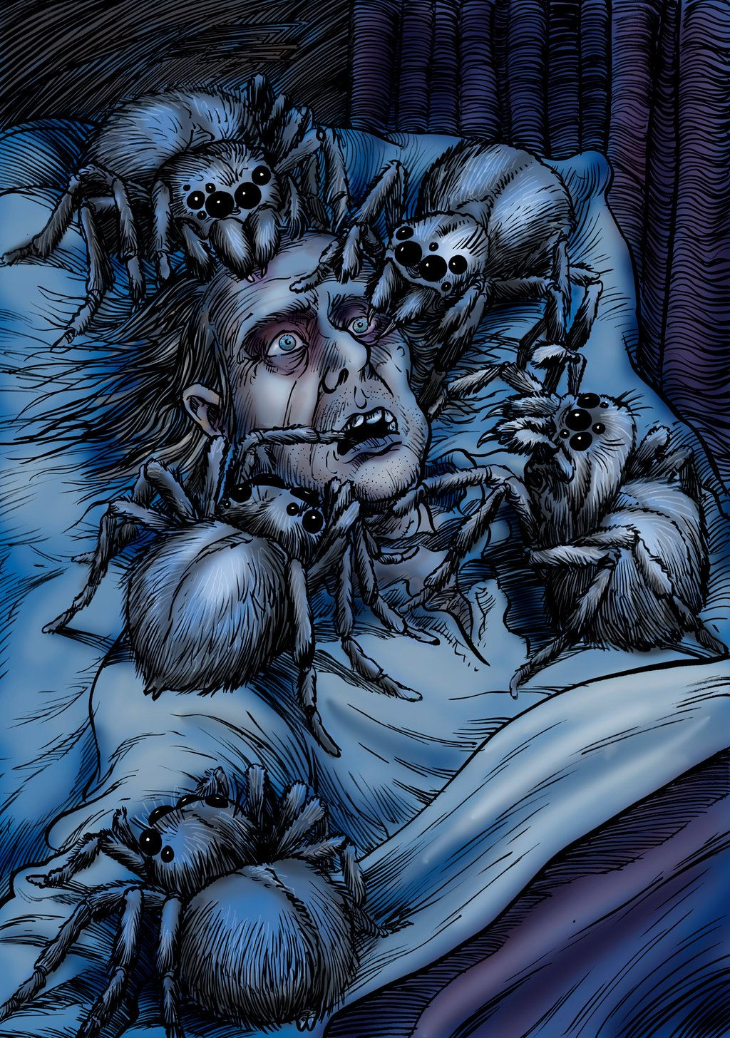 From Out of the Ash Tree by Loneanimator Arachnaphobic scene M. R. ...