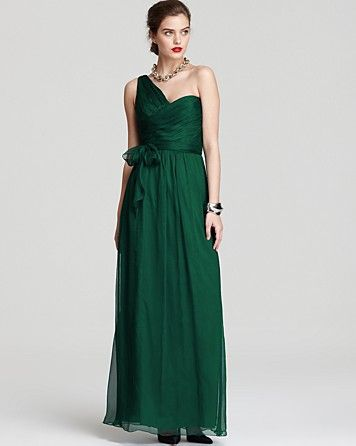 Amsale One Shoulder Gown - Ruched Bodice | Bloomingdales#fn%3Dspp%3D64#fn%3Dspp%3D64