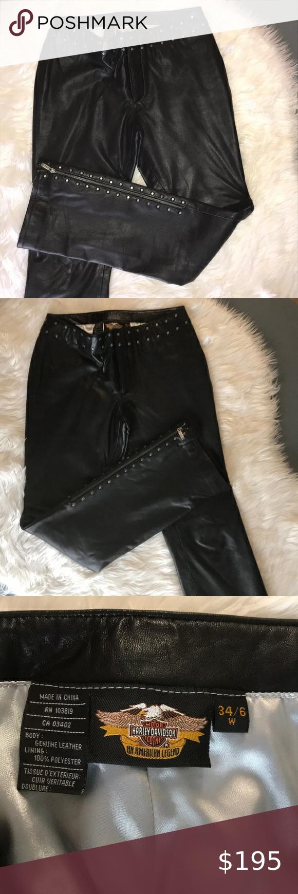 Harley Davidson Ladies Leather Riding Pants-size 12