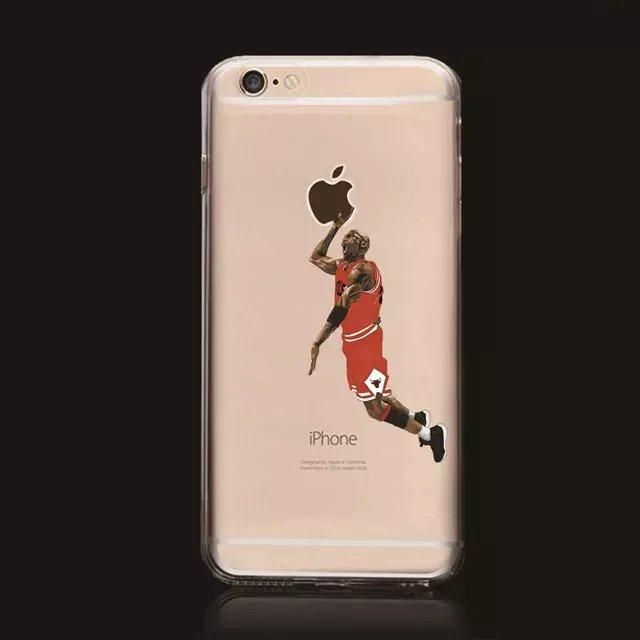 NBA player Cover For iPhone 7 iPhone8 Case Clear Silicon ...