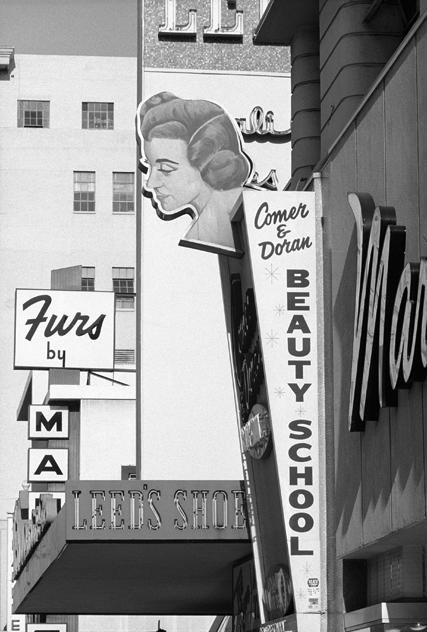 Dennis Hopper Marinello's Beauty School sign. Los