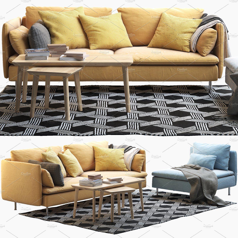 Brilliant Ikea Soderhamn Three Seat Sofa And O Coffeetablessize Bralicious Painted Fabric Chair Ideas Braliciousco