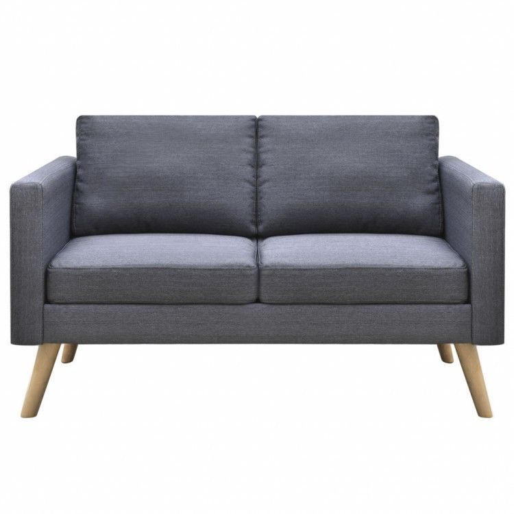 Retro Living Room Sofa Grey Couch Cushion Fabric Covers Loveseat Furniture Sale 256 53end Date May Furniture Loveseat Modern Fabric Sofa Retro Living Rooms