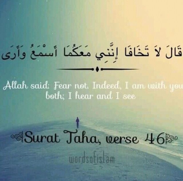 لا تخافا اني معكما Quran Quotes Inspirational Laughter Quotes Quran Quotes