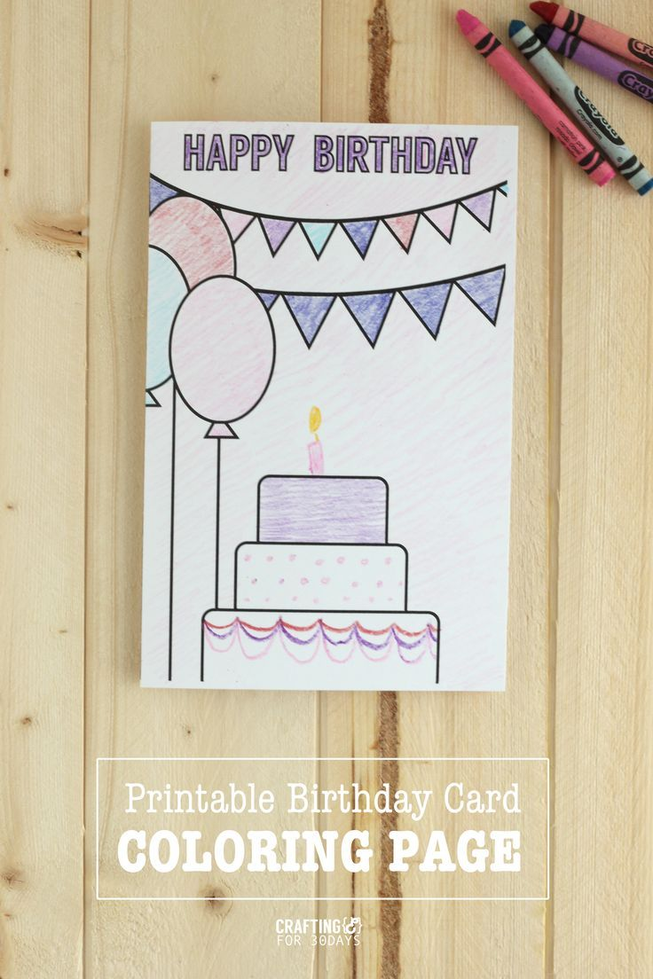 Printable birthday cards coloring page coloring pages rage and