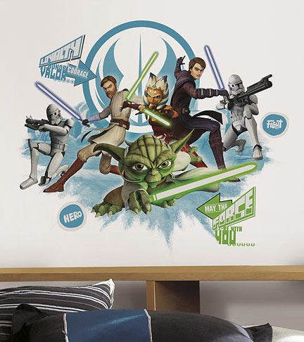 Star Wars Clone Wars Collage Peel And Stick Wall Decal