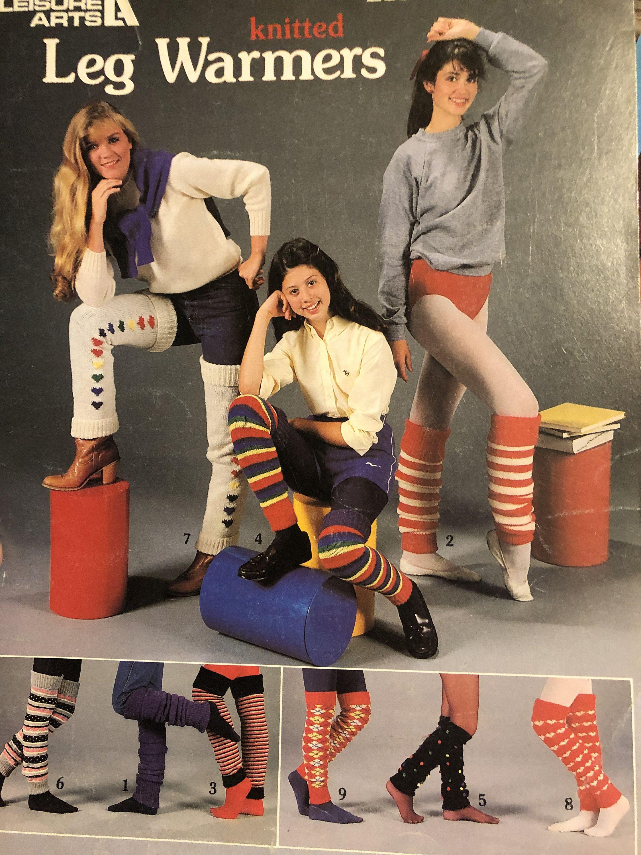 Knitted Leg Warmers Knitting Pattern Leaflet...Lei