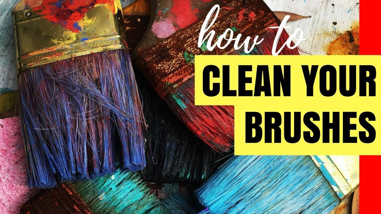How To Clean Acrylic Paint Off Your Brush Acrylic Art Tips For Beginners In 2020 Acrylic Art Art Tips Acrylic Painting
