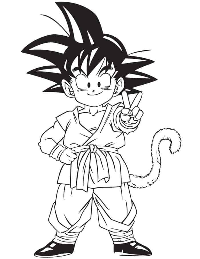 Goku Kid Drawing Coloring Pages Dragon Ball Art Dragon Ball Tattoo Goku Drawing