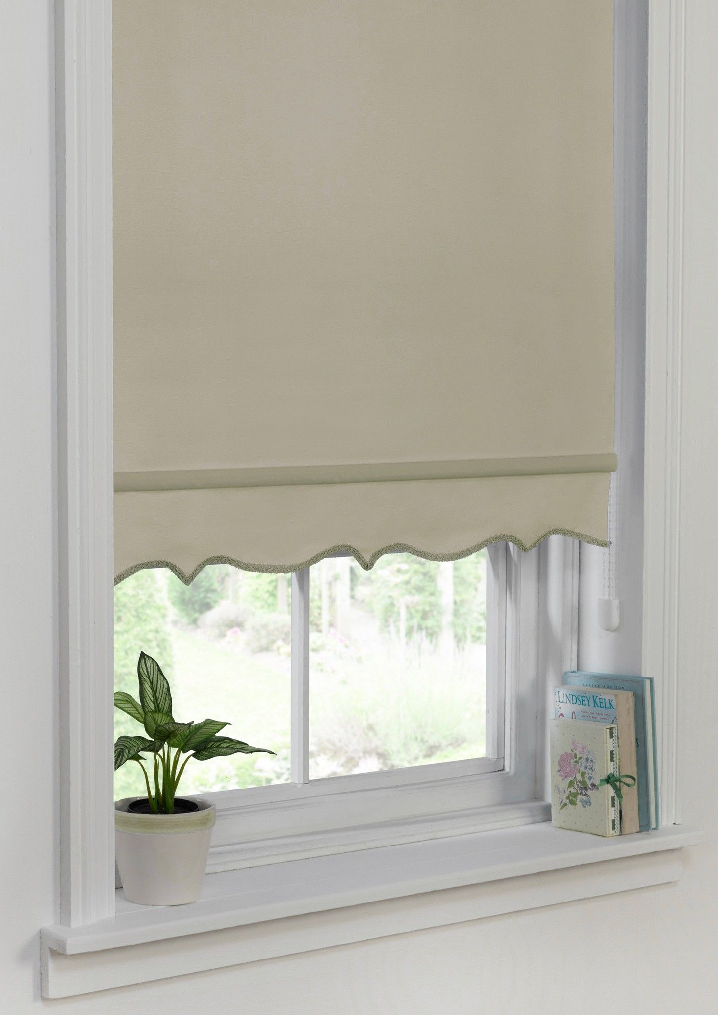 Scallop Edge Roller Blind Taupe A Creamy Taupe Shade And