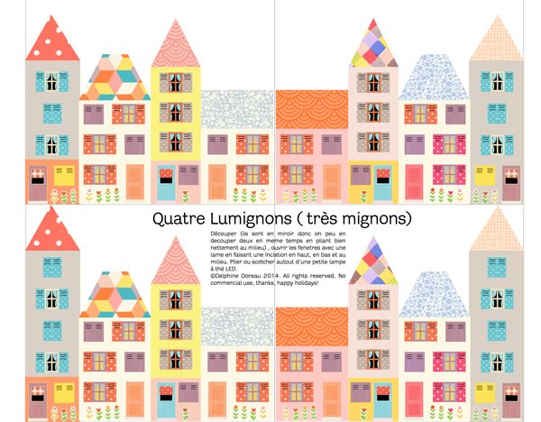 Quatre lumignons très mignons ( surprise #24) Daily diary, House - daily diary template