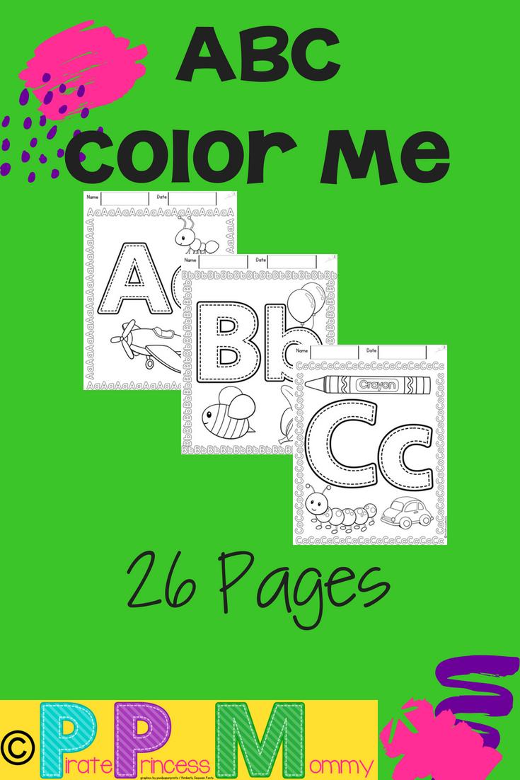 ABC Color Me | Pinterest