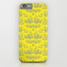 Chevron Toile, Yellow Slim Case iPhone 6s