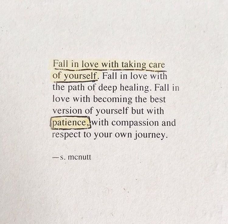 Remember to put yourself first