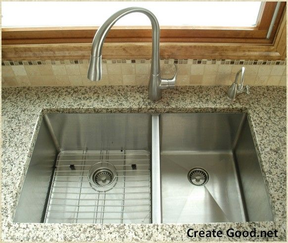 Stainless Steel Double Bowl Undrmount Kitchen Sinks With Images