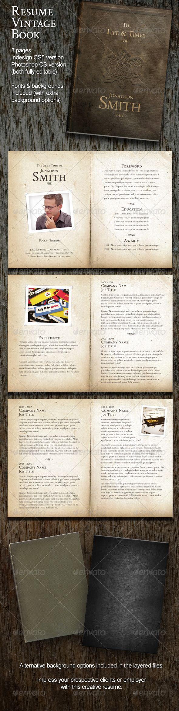 Resume Vintage Book (8 Pages)