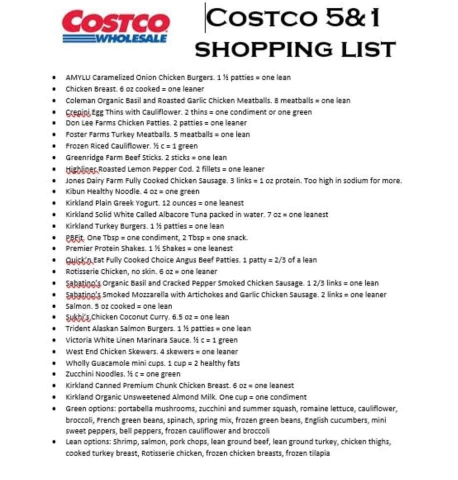 Costco lean and green lean eating lean and green meals