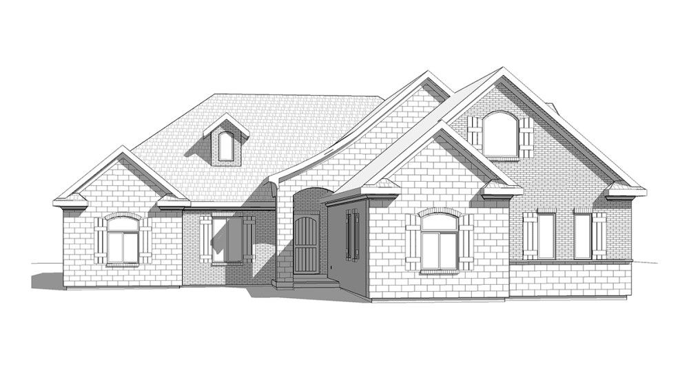 Charlotte - Traditional style house plan - Walker Home Design ...