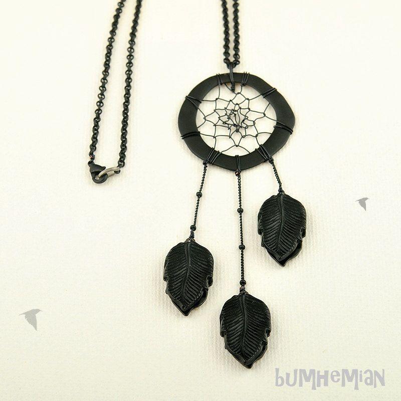 Hand Wire Woven Dream Catcher necklace
