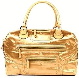 JP Tod's Pashmy Large Bauletto Bag - Gold