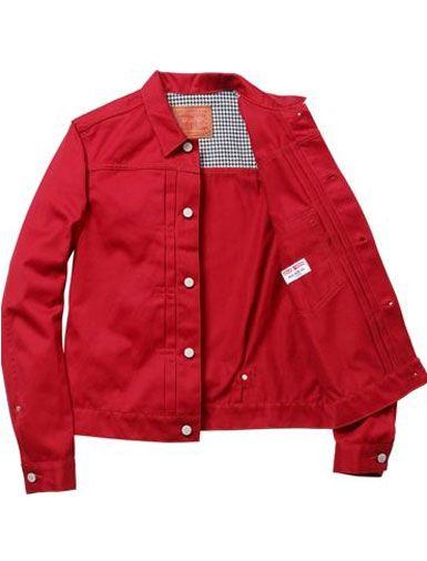 Supreme Levi S Red Denim Jacket Productos Que Me Gustan Jackets