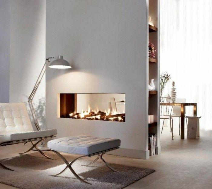 Modern Kamin Und Stehlampe