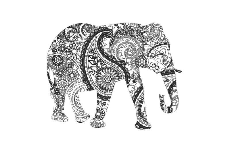 Download Free Mandala elephant SVG DXF PNG EPS AI Crafter File in ...
