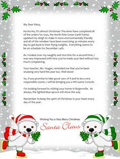Free Printable Christmas Letters From Santa  Santa Letters