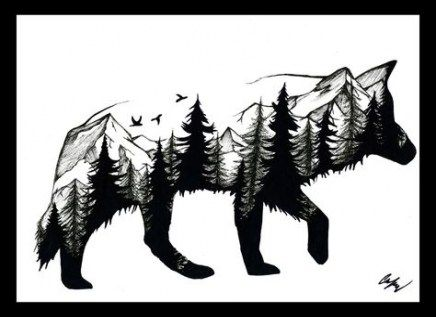 Photo of 69 Ideas Tattoo Wolf Mountain Trees For 2019