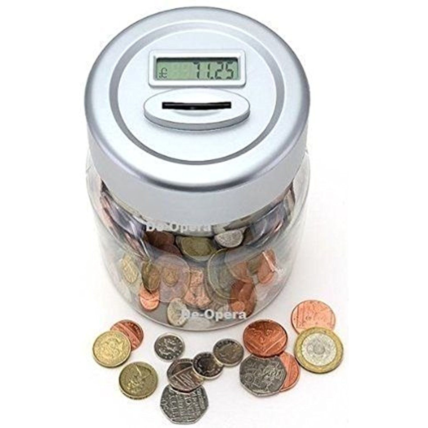 Electronic Lcd Coin Money Counting Jar Box Saving Safe