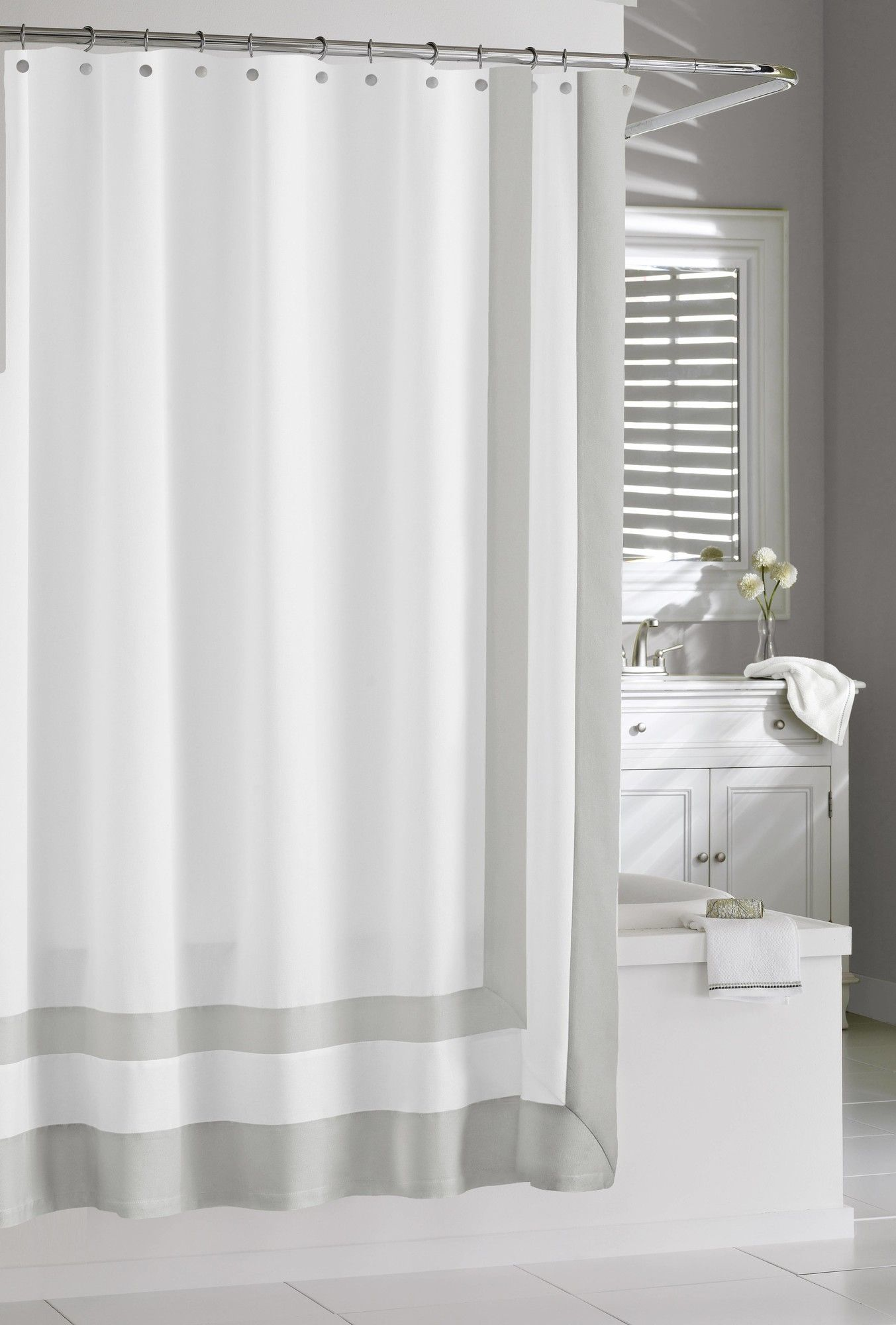 Royal Bath Luxury Frame Cotton Shower Curtain