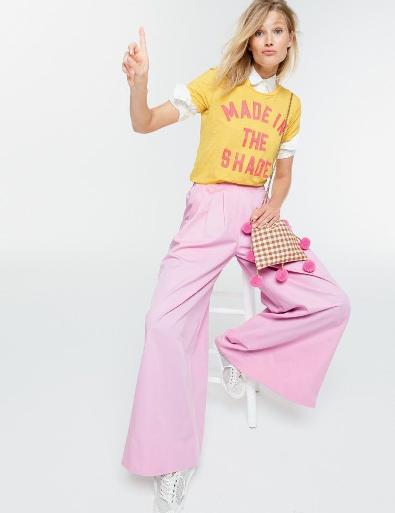 18056ae7e479 Think Pink  Toni Garrn Embraces Cute Pastels for J. Crew