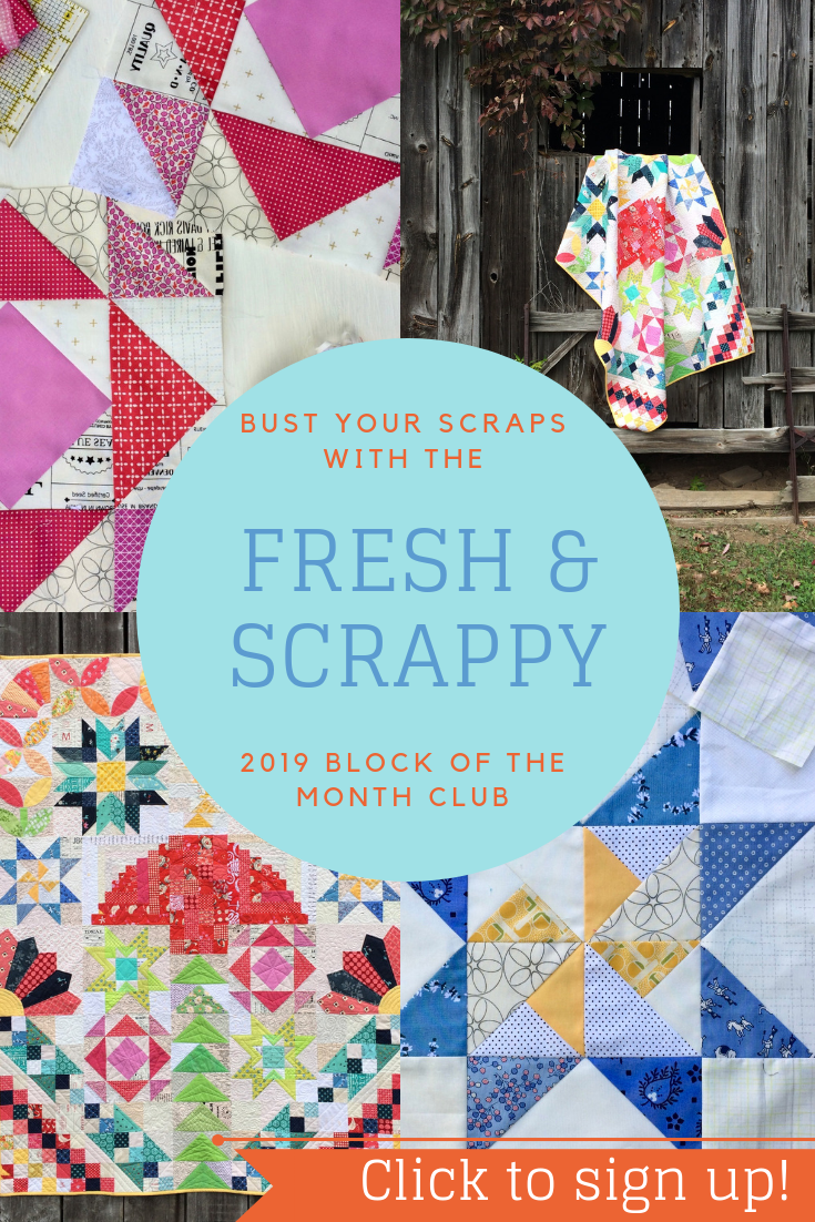 Quilt Block Of The Month Club Com.Fresh Scrappy Block Of The Month Club 2019 Pdf Sampler