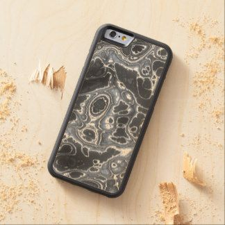 Blue Grunge Paint Splatter Fractal Fantasy Pattern Carved® Maple iPhone 6 Bumper Case