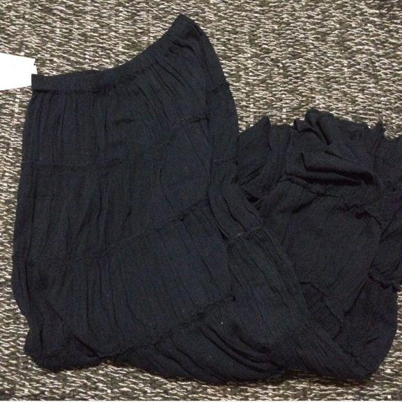 Denim & Supply by Ralph Lauren Maxi Skirt Black maxi skirt . NWT Ralph Lauren Skirts Maxi