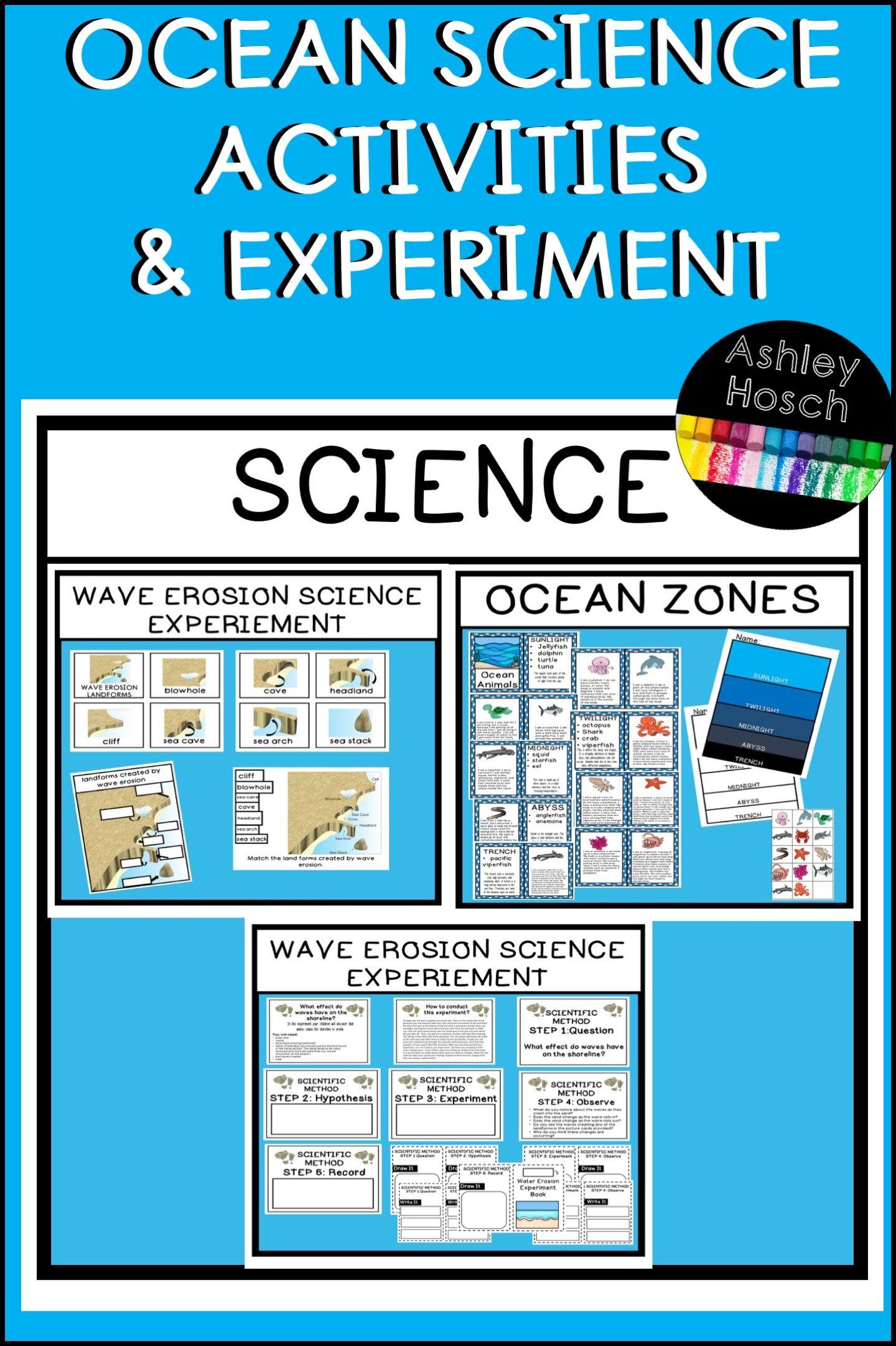 Ocean Thematic Science Experiment Wave Erosion Preschool