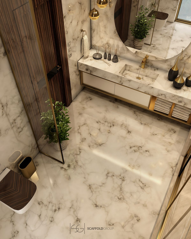 Luxurious Bathroom On Behance Luxury Bathroom Amazing Bathrooms Bathroom Decor