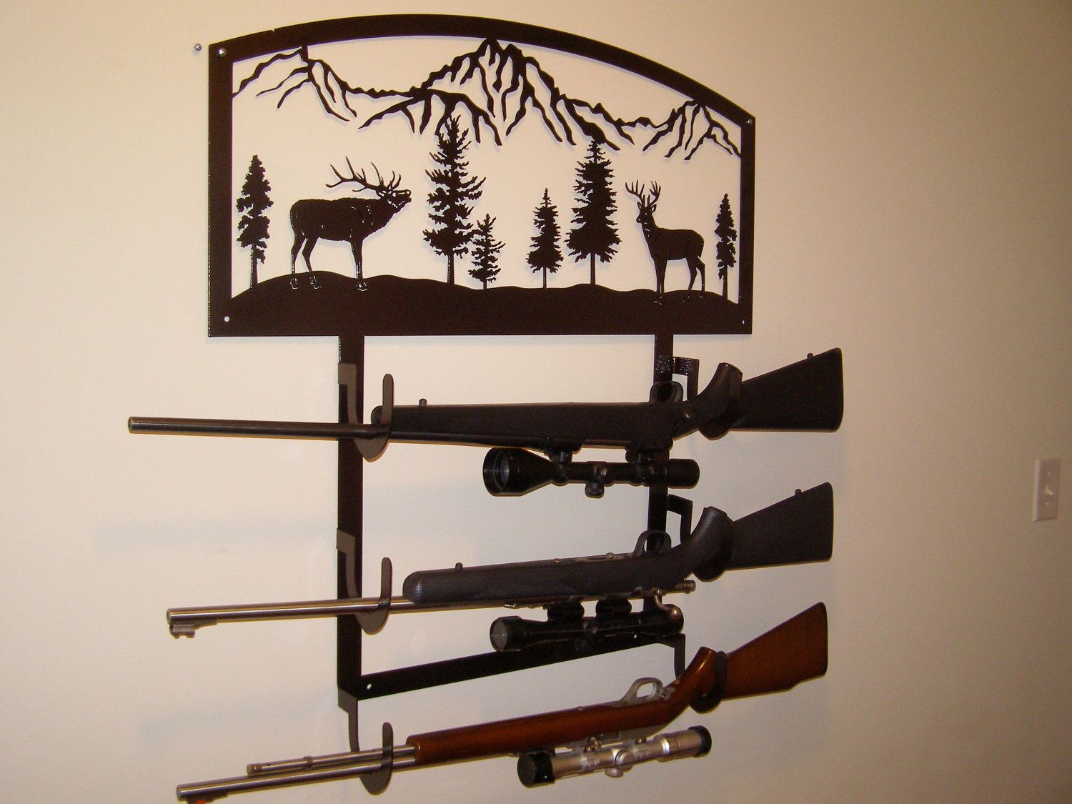 Gun Rack Custom Metal. $215.00, via Etsy. | Marvalous ...